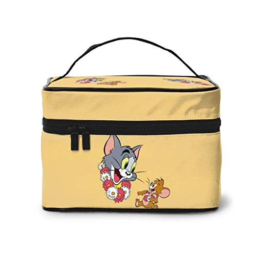Makeup Bag, Tom and Jerry Travel Portable Cosmetic Bag Large Pouch Mesh B Organizer Toiletry Bag for Women Girls