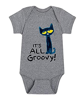 Pete The Cat It's All Groovy - Infant One Piece Athletic Heather