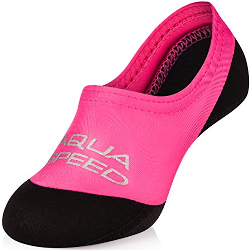 AQUA-SPEED® NEO SOCKS Calcetines para Niños | 20-29 | Calcetines de neopreno | Hijos | Suela antideslizante | Elásticos | Fácil, Color:Pink;Tamaño:26 / 27