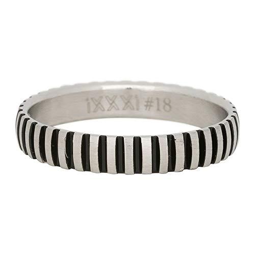 iXXXi Füllring PIANO silber matt/schwarz - 4 mm Größe 17