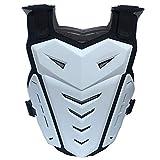 クロスカントリーバイクアーマースーツ衝突防止落下防止胸背のオートバイレーススーツ鎧保護具の安全保護具,白