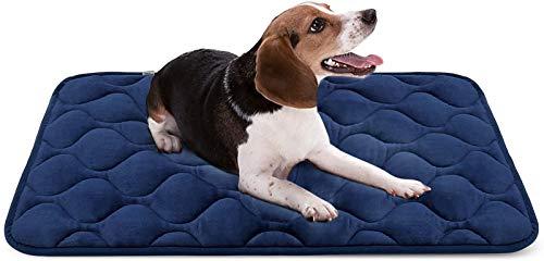 Hero Dog Medium Dog Bed Mat 36 Inch Crate Pad Anti Slip Mattress Washable for Pets Sleeping (Blue M)