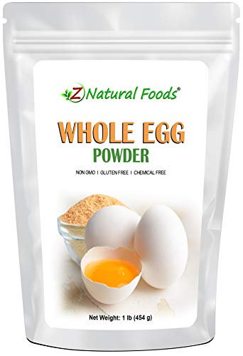 Powdered Eggs - Whole Egg Powder, White & Yolk - Raised & Dehydrated in USA - Great Dried Food For Emergency / Survival Storage & Supply - Keto & Paleo Friendly - Non GMO, Gluten Free, Kosher (1 lb)