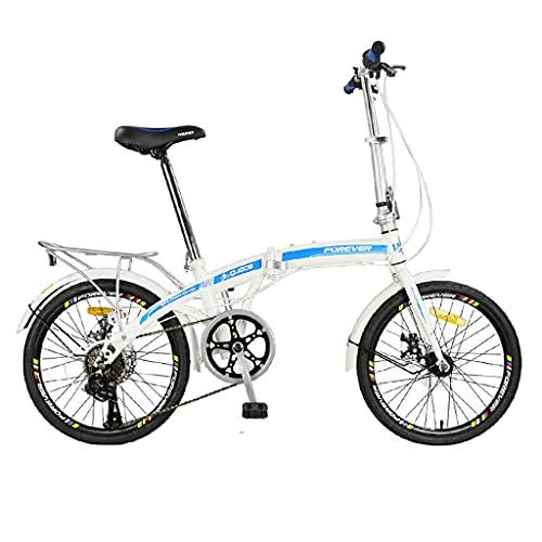 XBSXP Bicicleta de Velocidad Plegable de 20 Pulgadas - Bicicleta Plegable para Estudiantes para Hombres y Mujeres Bicicleta de Velocidad Plegable/Bicicleta de Velocidad Variable/Bici