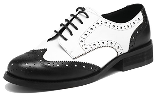 Top 10 best selling list for black and white spectator flat shoe women wide