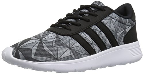 adidas Lite Racer W, Zapatillas para Mujer, Negro, Blanco y Negro, 44 EU