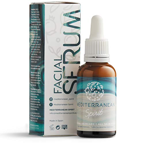 Serum Facial Antiedad Con Vitamina C y E Resveratrol Y Ácido Ferúlico con Ingredientes Naturales - UNISEX por Mediterranean Spirit