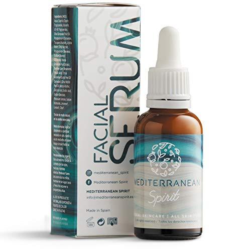 Sérum Visage Anti âge Unisexe Avec Vitamine C et E Resvératrol et Acide Férulique Ingrédients Naturels de Mediterranean Spirit
