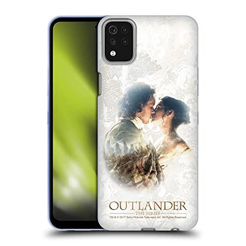 Head Case Designs Licenza Ufficiale Outlander Claire E Jamie Bacio Primi Piani Cover in Morbido Gel Compatibile con LG K42   K52   K62