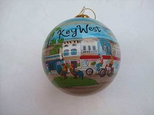 Hand Painted Glass Christmas Ornament - Key West