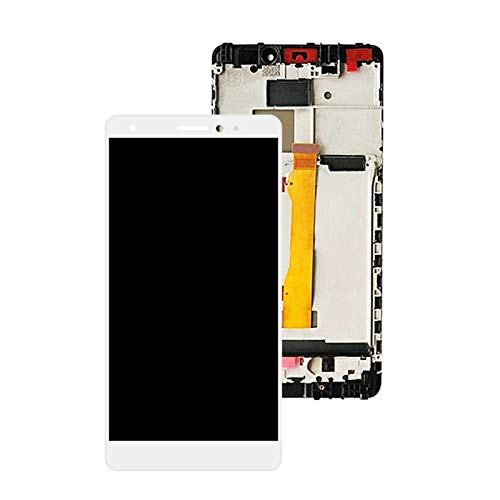 Pantallas LCD para teléfonos móviles 5.5'Pantalla LCD Pantalla táctil Montaje digitalizador con Marco CRR-UL00 CRR-UL20 Reemplazo/Ajuste para Huawei Mate S (Color : White with Frame)