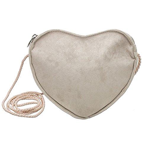 Alpenflüstern Herz-Trachtentasche (taupe-grau) DTA037