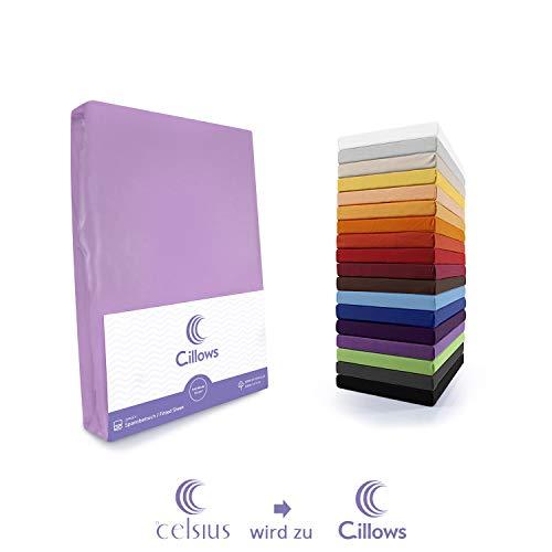 Celsius Jersey Spannbettlaken Spannbetttuch 140x200-160x220 cm 100% Baumwolle Bettlaken Farbe: Flieder 160 g/m2 Qualität