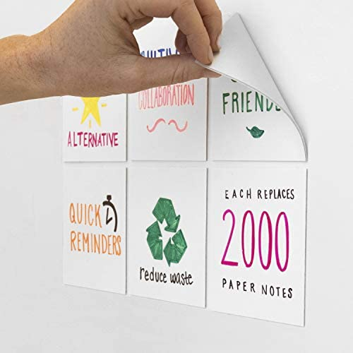 mcSquares Stickies 4x4 Dry Erase Sticky Notes 6 Pack Reusable White Board Stickers with Included product image