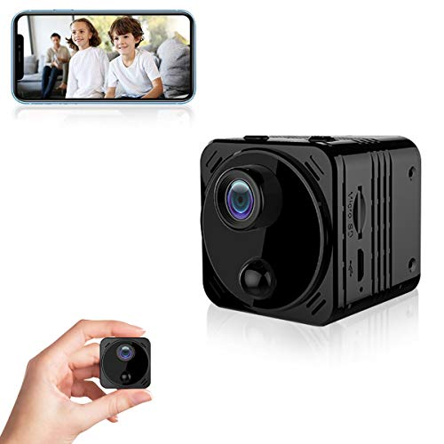 4K HD Spy Camera Wireless Hidden Camera WiFi Long Battery Life Mini Real-time Remote View Mini Convert Camera with Phone APP Night Vision Motion Sensor Magnetic Security Surveillance Cam for Car