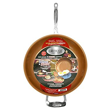 Gotham Steel 9950 Non-Stick Titanium Frying Pan, 12.5 , Brown