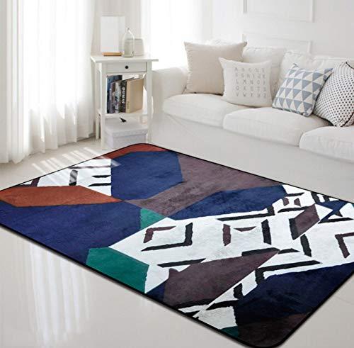 Teppiche Geometric Print Wohnzimmer Anti-Rutsch-Sofa Teppich Kinderzimmer Couchtisch Yoga Matte Dekorative 80cmx150cm
