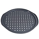 SDFG Pizza Pans with Holes Pizza Pan Pizza Baking Pan Heavy Carbon Steel Pizza Tray Non-Stick...