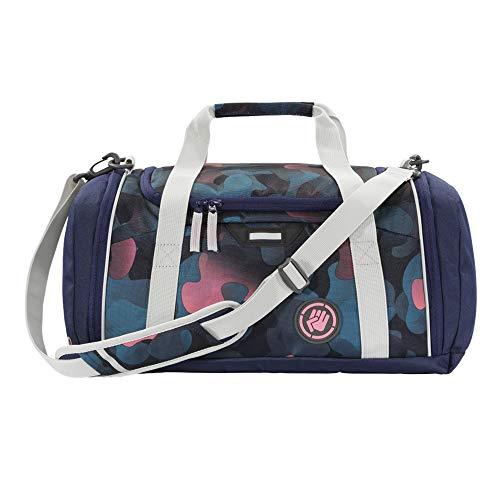 """Coocazoo Sporttasche SporterPorter """"Cloudy Peach"""", rosa-blau, Nasswäschefach, Seitentasche, Schuhfach, Abnehmbarer, Verstellbarer Schultergurt, für Mädchen ab der 5. Klasse, 20 Liter"""