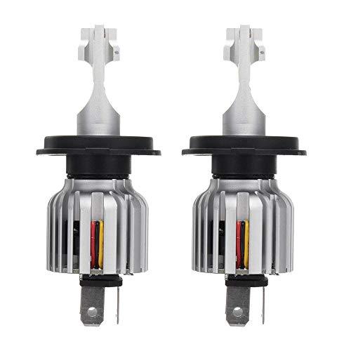 YALIXING Faros de Coche - D9 60W 8000LM LED Faros de Coche Bombillas lámparas antiniebla H1 H3 H4 H7 H11 9005 9006 6000K Reemplace el halógeno HID de Xenon Ahorro de energía y Larga Vida útil.