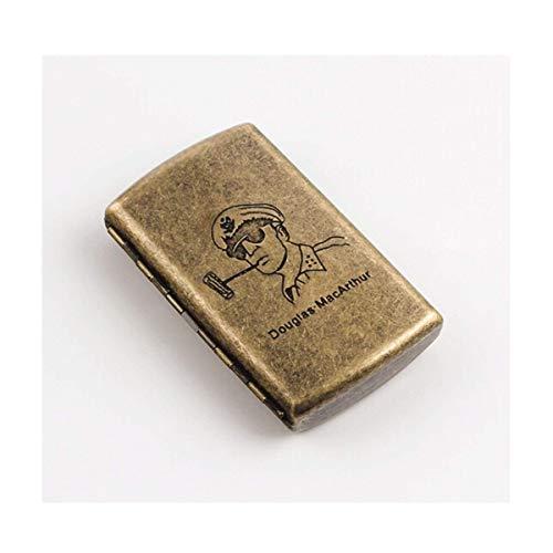 Zigarettenschachtel Zigarettenschachtel tragbare Mini-einfache Retro- Zigarettenetui Persönlichkeit kreative Männer und Frauen Edelstahl Zigarettenetui kreative Geschenk-Can 12 Zigaretten Beherbergung