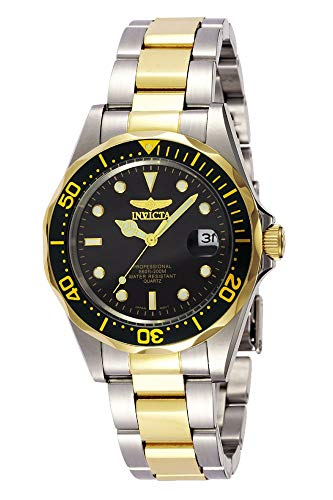 Invicta Men's 37.5mm Pro Diver Stainless Steel Gold Tone