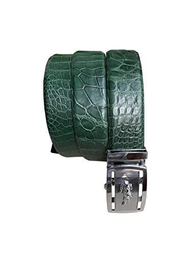 Genuino cocodrilo cocodrilo cuero vientre cinturón de piel para los hombres ancho de la correa 4cm vintage disigned