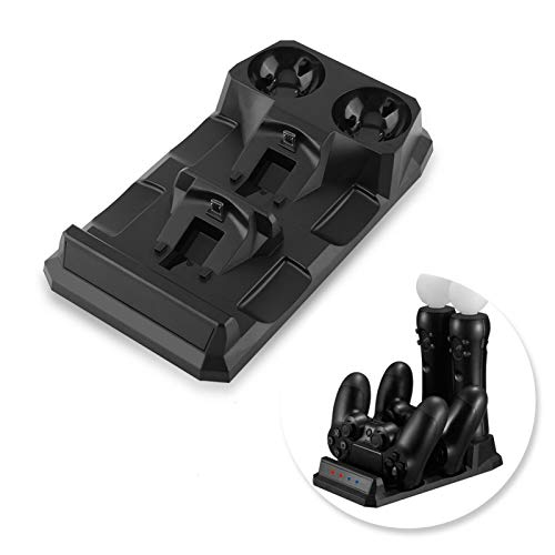 Safe Dual Colored Led Light Indicator Snabb laddningsdocka, laddningsdocka, maximera ditt arbetsutrymme Rent och organiserat skrivbord för PS Move PS4 Controller