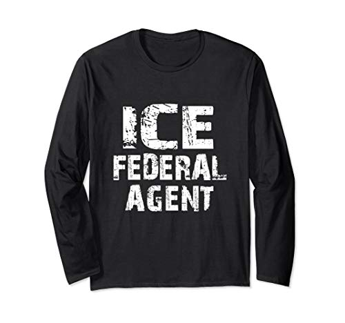 ICE Federal Agent Halloween Costume Police Immigration Long Sleeve T-Shirt