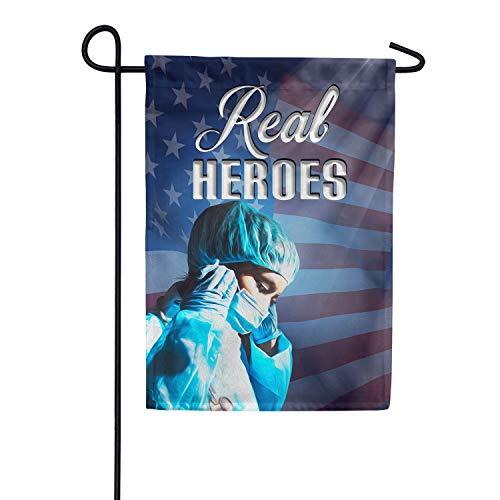 America Forever Flags Double Sided Garden Flag - Preparing for Fight of Life - 12.5' x 18', Thank You Healthcare Workers, Fight Against Covid-19 Coronavirus Pandemic Flag, Yard Outdoor Decor Flags
