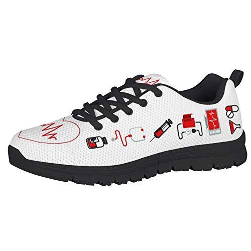 HUGS IDEA Zapatillas De Deporte Casuales Zapatillas De Running Gimnasio Zapatillas De Malla con...