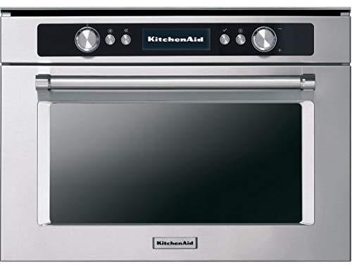 Kitchenaid Mikrowelle + Grill mit Eingebaut kmmgx 45600Finish Edelstahl-45cm