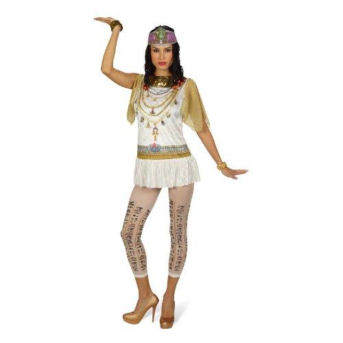 Elbenwald Cleopatra - Disfraz de mujer de 2 piezas, Reina de Egipto para carnaval Set Kleopatra - 44/46
