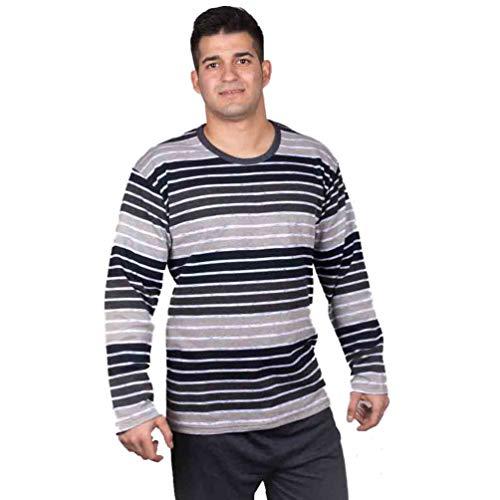 Babelo Pijama de Hombre listado en algodón 1058 - Marino,