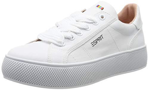 ESPRIT Damen LU Sneaker, Weiß (White 100), 38 EU