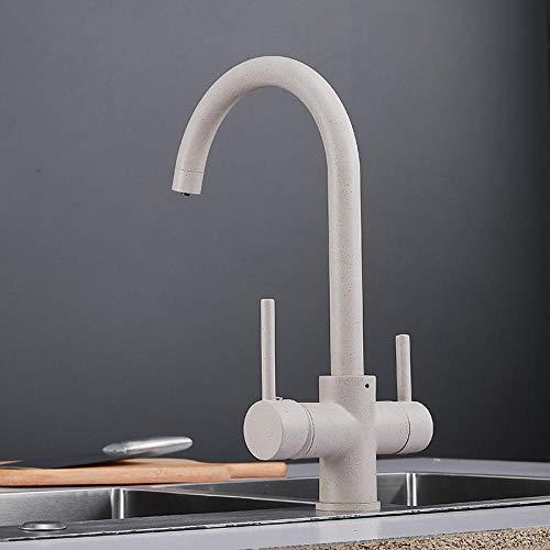 Armatur Wasserhahn Spültischarmatur Swivel Pull Down Spültischarmatur Tap Mounted Deck Badezimmer Montiert 360-Grad-Wasser Mischbatterie Mixer-Haferflocken Farbe