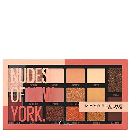 Maybelline New York Palette Ombretti Nudes of New York, Colori Ricchi e Cremosi, 18 g