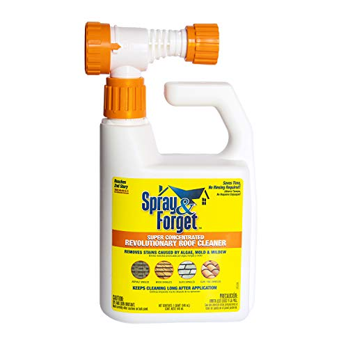 Spray & Forget SFRCHEQ06 Super Concentrated Revolutionary Roof Cleaner (Hose