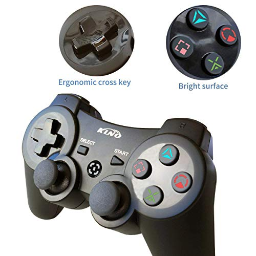 PS3 Controller Wireless Dualshock Joystick - KLNO PS39 Bluetooth Gamepad Sixaxis, Super power, USB Charger, Sixaxis, Dualshock3 including 1 cable For Playstation 3