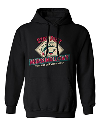 Black Stay Puft Marshmallows Hooded Sweatshirt