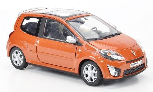 RENAULT Twingo GT, met.dkl.Orange, 2009, Modellauto, Fertigmodell, Cararama 1:24