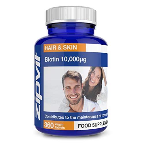 Biotina 10,000mcg, 360 Comprimidos. La Potencia Más Alta pa