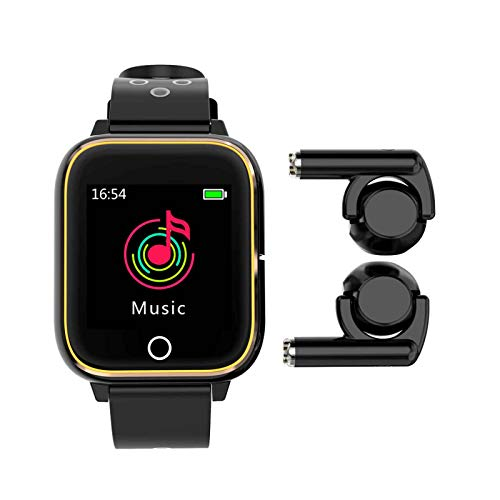 yankai Smartwatch Reloj Inteligente Hombre Auriculares Bluetooth,Pulsera Multifunción,Reproductor MP3,Monitorización del Sueño Saludable,Auriculares Plegables Giratorios