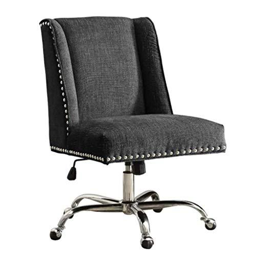 Comif-bureaustoel/bureaustoel voor de tijd Libero, ergonomisch gevormde rugleuning, in hoogte verstelbaar design, elegant klinknageldesign, ademend zonder armleuningen (optioneel multicolor
