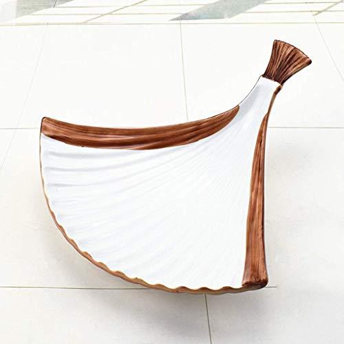 DGHJK Plato frío Irregular del Hotel, vajilla Triangular de cerámica con Personalidad Creativa, Plato Especial de Alta Gama Antideslizante de Moda, vajilla de vajilla