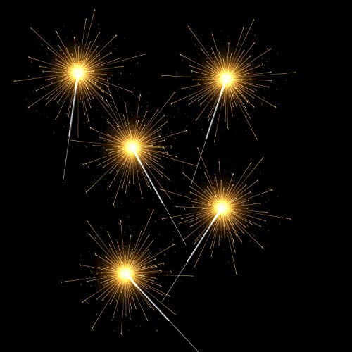 120 bengalas   Set XXL   Larga duración de la vela   Velas milagrosas ideales para Nochevieja, Año Nuevo, Navidad, cumpleaños, bodas