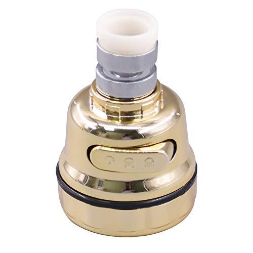 KPPOG 1 unid Oro Grifo Grifo burbujeador Cocina Grifo Ahorro Grifo Ahorro de Agua Ahorro de baño Ducha Cabezal de Ducha Boquilla Ahorro de Agua pulverizadores de Ahorro de Agua Grifo (Color : 1PCS)