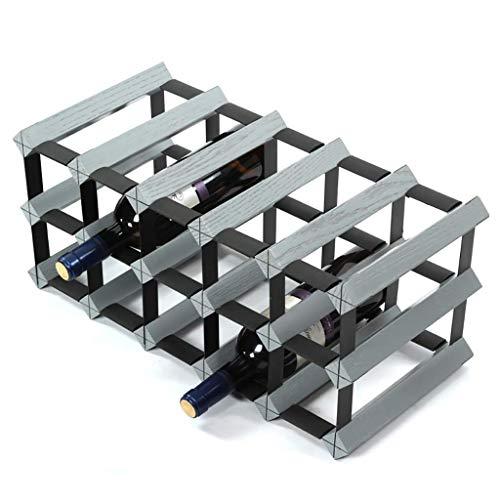 HLL Cabinet Bar Weinregal Insert Rack Stapelbar Cellular Net Gabel Plaid Flasche Lagerregal Display Regal für Zuhause, Weinkeller, Bar, Weinschau,51,5 * 23,5 * 22,5 cm,51,5 * 23,5 * 22,5 cm