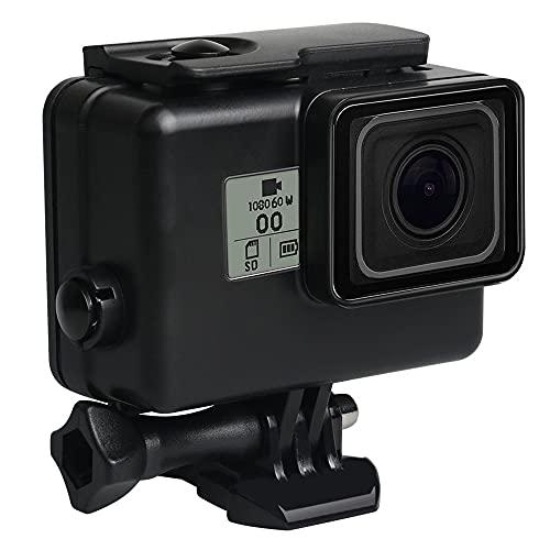 Carcasa impermeable para GoPro Hero 7 Negro, Subacuático Buceo Carcasa protectora Carcasa Compatible Go Pro Hero 6/5 Cámara de acción deportiva (negro)