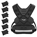 Aduro Sport Adjustable Weighted Vest Workout Equipment, 26lbs-46lbs Body Weight Vest for Men, Women, Kids